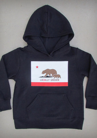 Locally Grown – California Youth Black Hoodie