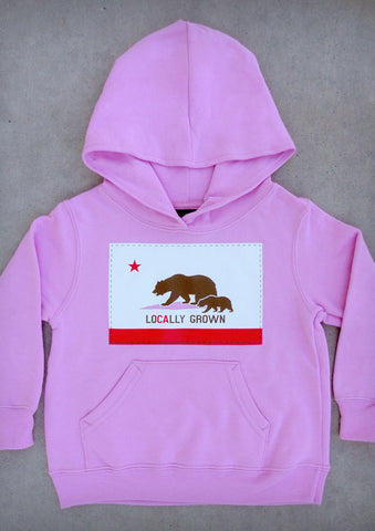 Locally Grown – California Youth Pink / Hot Pink Hoodie