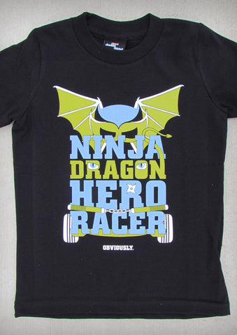 Ninja Dragon Hero Racer – Youth Boy Black T-shirt