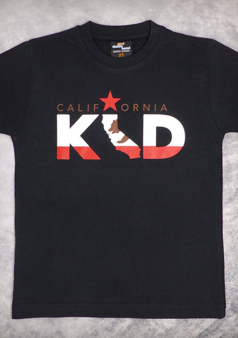 California Kid – California Youth Boy Black & Baby Blue T-shirt