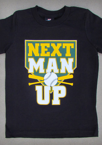 Next Man Up (Oakland A's) – Youth Boy Black T-shirt