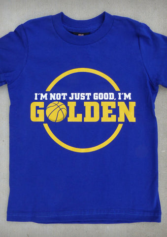 I'm Not Just Good, I'm Golden (Golden State Warriors) – Youth Boy Cobalt Blue T-shirt