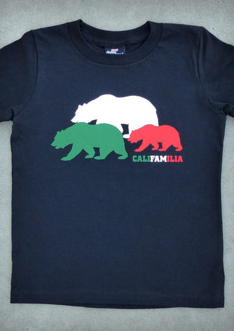 Califamilia – California Youth Boy Black T-shirt