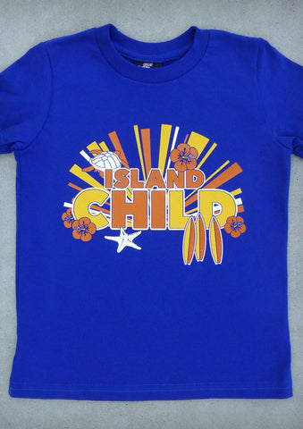 Island Child – Youth Boy Cobalt Blue T-shirt