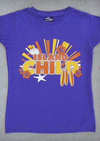 Island Child – Youth Girl Purple Crew Neck T-shirt