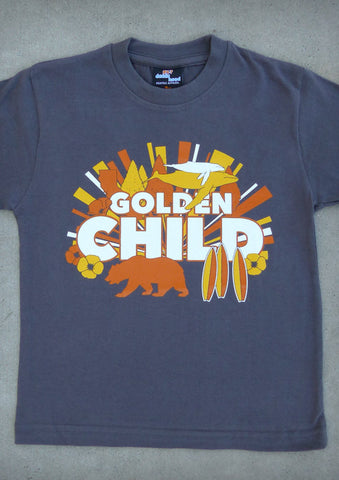 Golden Child – California Youth Boy Charcoal Gray T-shirt