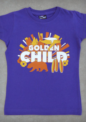 Golden Child – California Youth Girl Purple Crew Neck T-shirt