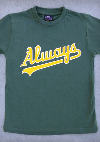 Always (Oakland Athletics) – Youth Boy Olive Green T-shirt