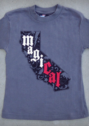 MagiCAL – California Youth Boy Charcoal Gray T-shirt