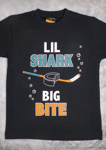 Shark Bite (San Jose Sharks) – Youth Boy Black T-shirt