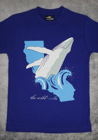The Wild Calls (Whale) – Youth Boy Cobalt Blue T-shirt