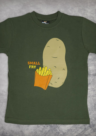 Small Fry – Youth Boy Olive Green T-shirt