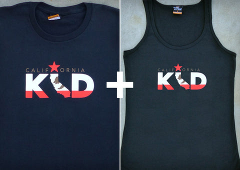California Kid Gift Set – California Men's T-shirt + Women's Tank Top