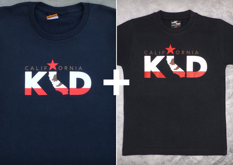 California Kid Gift Set – California Men's T-shirt + Youth Boy T-shirt
