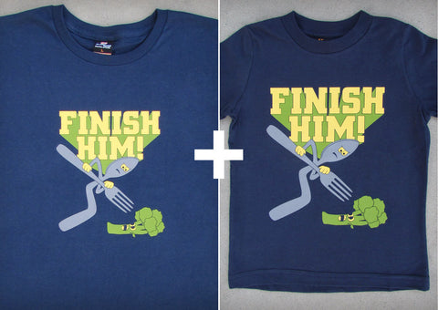 Finish Him Gift Set – Men's T-shirt + Youth Boy T-shirts