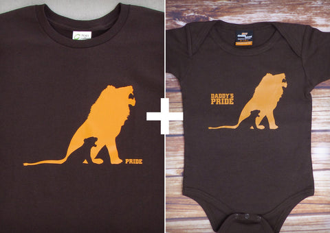 Daddy's Pride Gift Set – Men's T-shirt + Baby Onepiece/T-shirt
