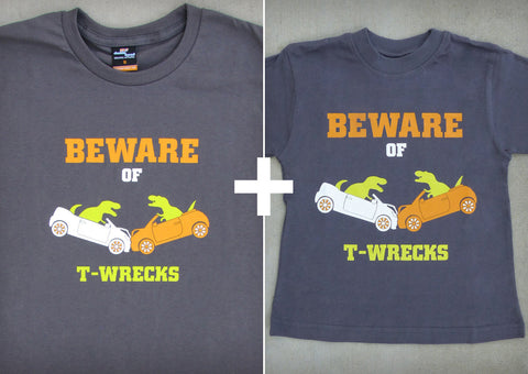 Beware of T-wrecks Gift Set – Men's T-shirt + Youth Boy T-shirts