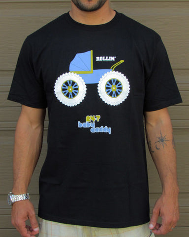 Rollin' – Men's Daddy Navy Blue & Black T-shirt
