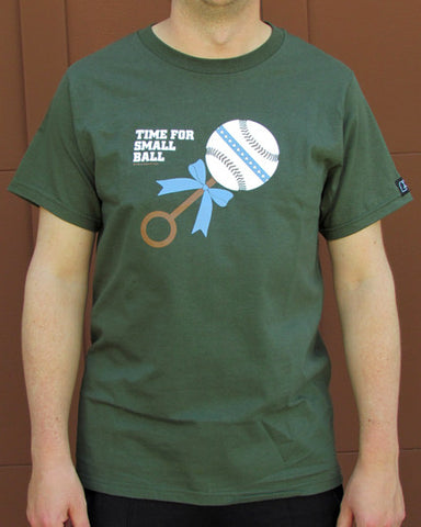 Time for Small Ball – Men's Daddy Olive Green T-shirt