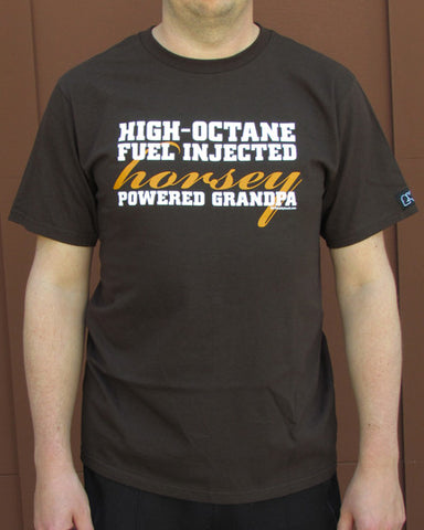 Horsey Powered Grandpa – Men's Grandpa Chocolate Brown T-shirt