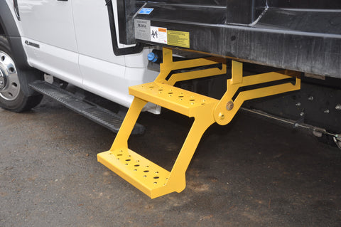 Retractable Truck Steps with Non-slip Tread Universal 2STEPYELLOW