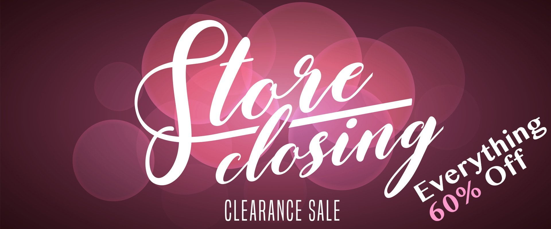 Stock Clearance Sale 60%