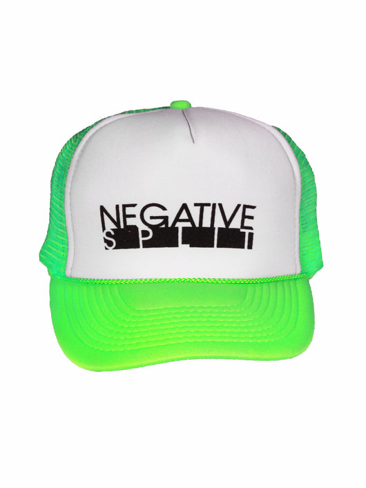 Negative Split Trucker Hat Green