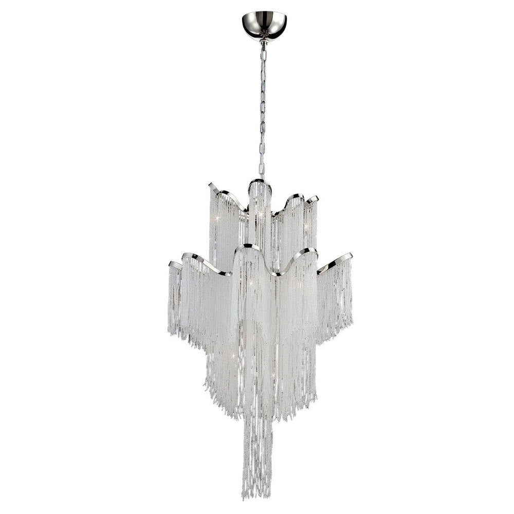 ELLENA,12LT CHANDELIER,NICKEL 26606-019*