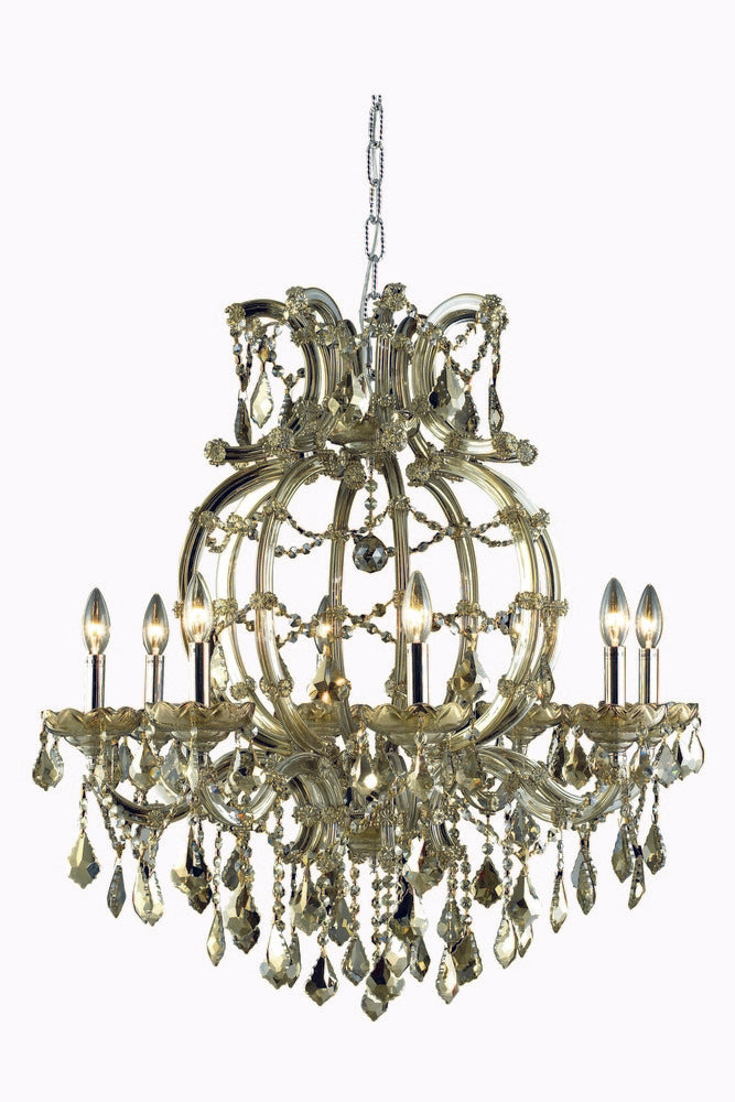 2800 Maria Theresa Collection Chandelier D:28.5in H:32.5in Lt:8 Golden Teak Finish (Swarovski� Eleme 2800d28gt-gt/ss