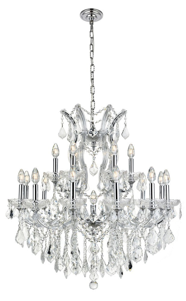 2800 Maria Theresa Collection Chandelier D:30in H:28in Lt:19 Chrome Finish (Spectra� Swarovski� Crys 2800d30c/sa