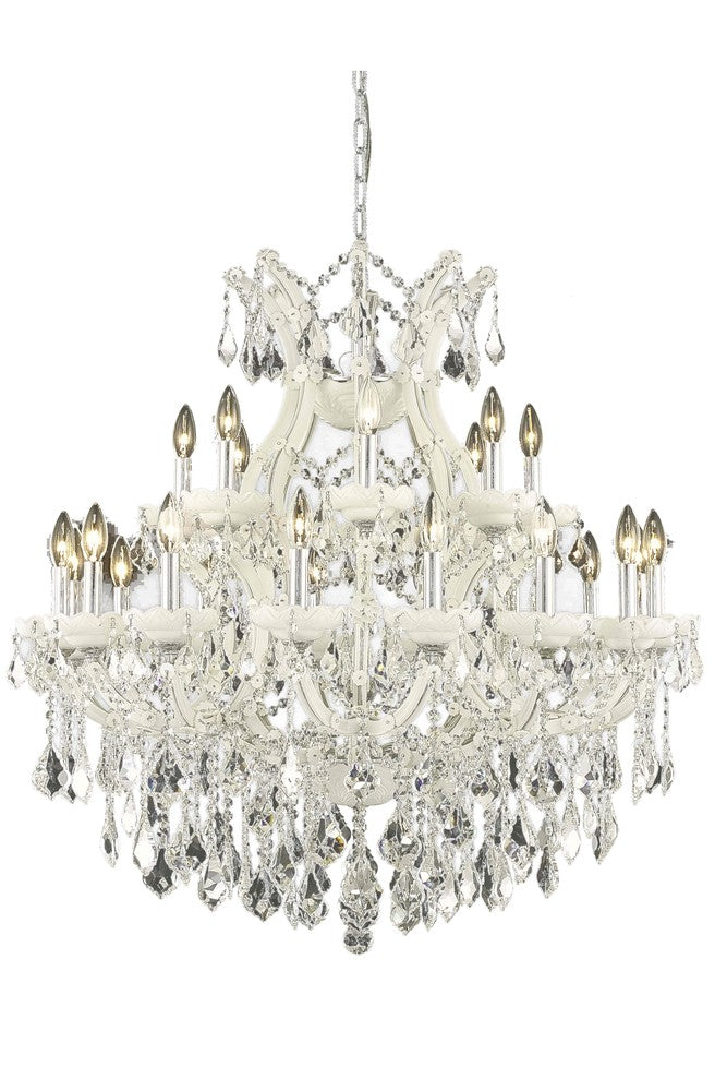 Maria Theresa 25 light white Chandelier Clear Swarovski® Elements Crystal 2800d36wh/ss