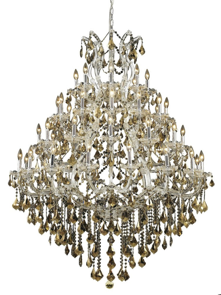 2800 Maria Theresa Collection Chandelier D:46in H:62in Lt:49 Chrome Finish (Swarovski� Elements Crys 2800g46c-gt/ss