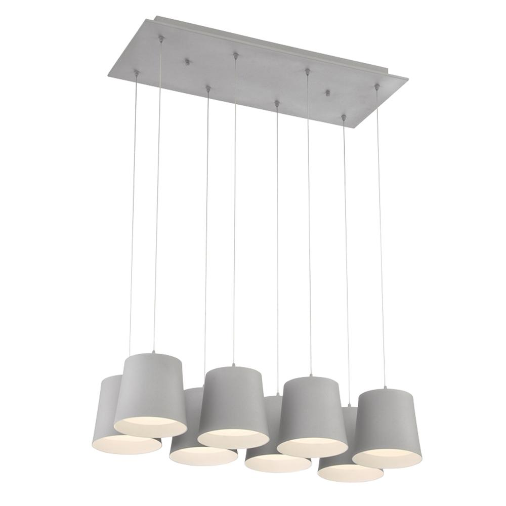 BORTO,8LT LED CHANDELIER,GREY 28163-039*