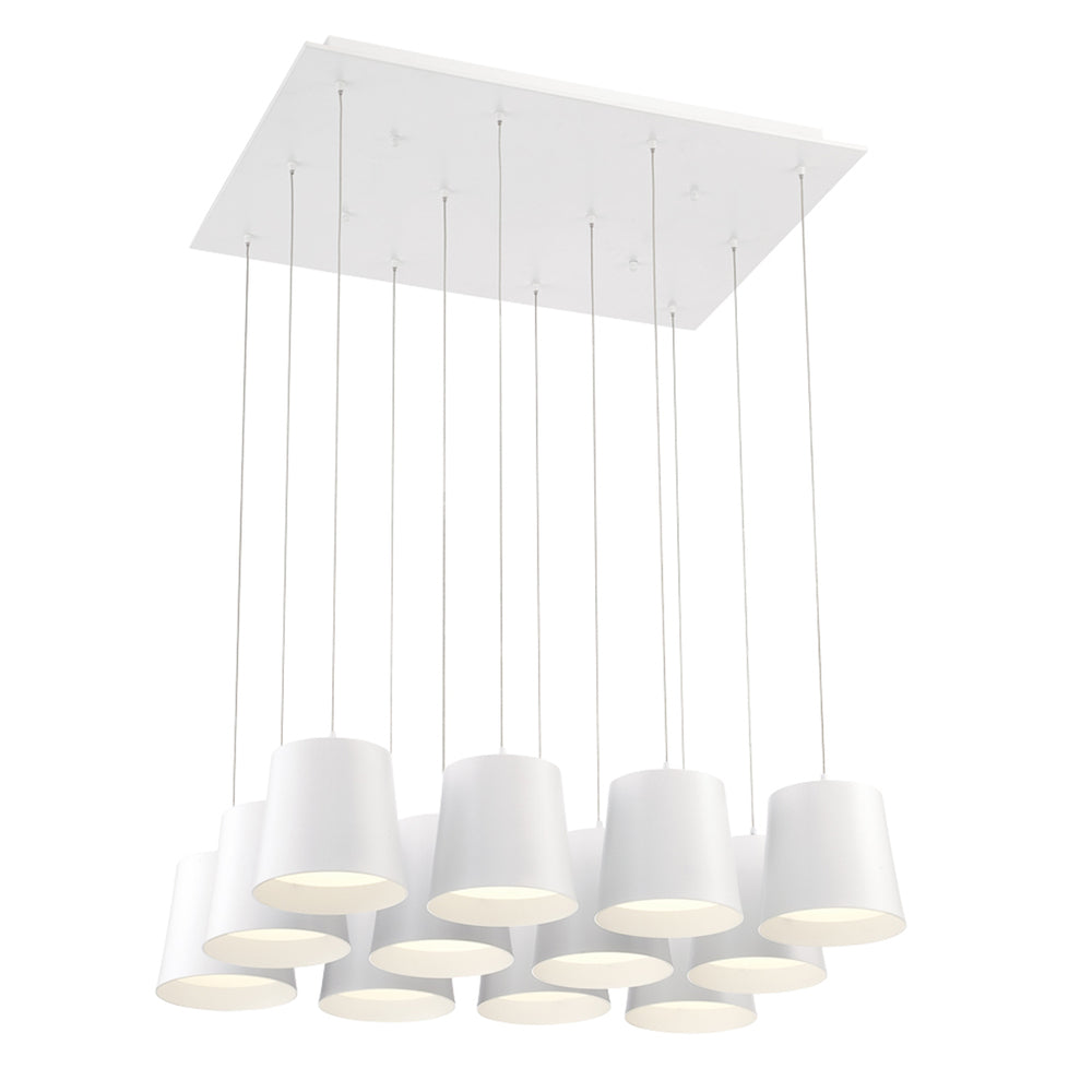 BORTO,12LT LED CHANDELIER,WHT 28164-012*