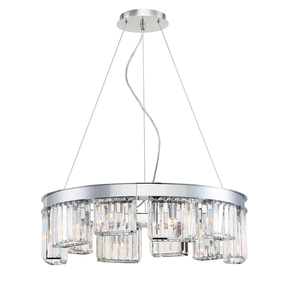 LUMINO,10LT CHANDELIER,CHROME 29079-018*
