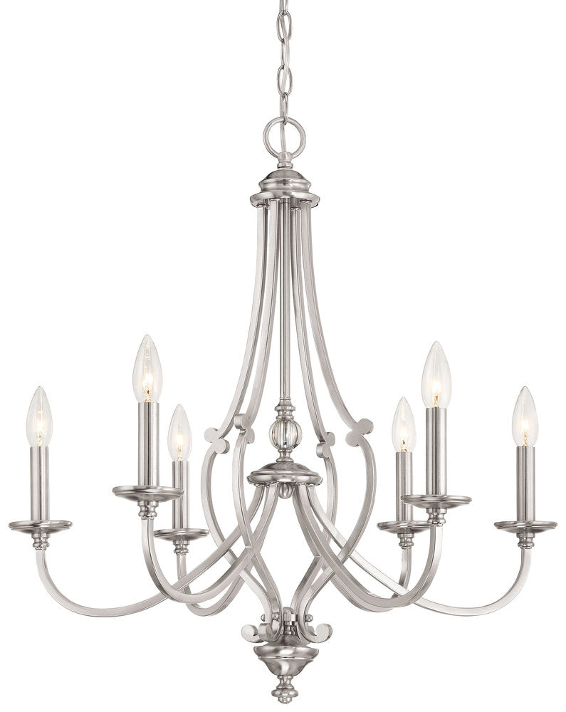 Savannah Row - 6 Light Chandelier 3336