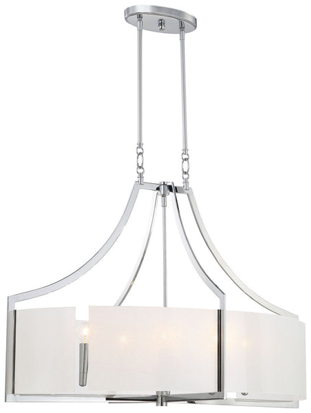Clarté - 6 Light Oval Pendant 4398