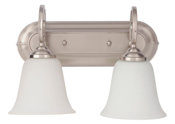 Cecilia 2 Light Vanity in Brushed Satin Nickel 7114