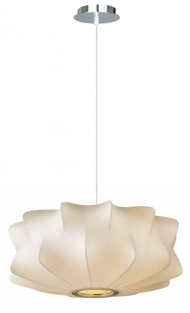 MELROSE PL. COLLECTION WHITE FABRIC PENDANT LIKE HANGING FIXTURE HF2110