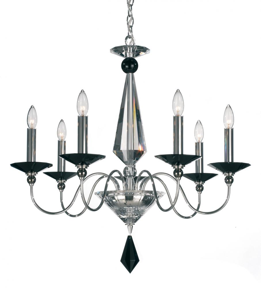 Jasmine 7 Light 110V Chandelier in Silver with Clear Optic Crystal 9677