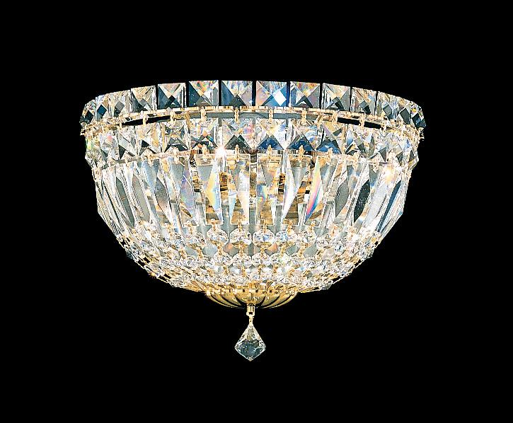 Petit Crystal Deluxe 3 Light 110V Wall Sconce in Aurelia with Clear Spectra Crystal 6600