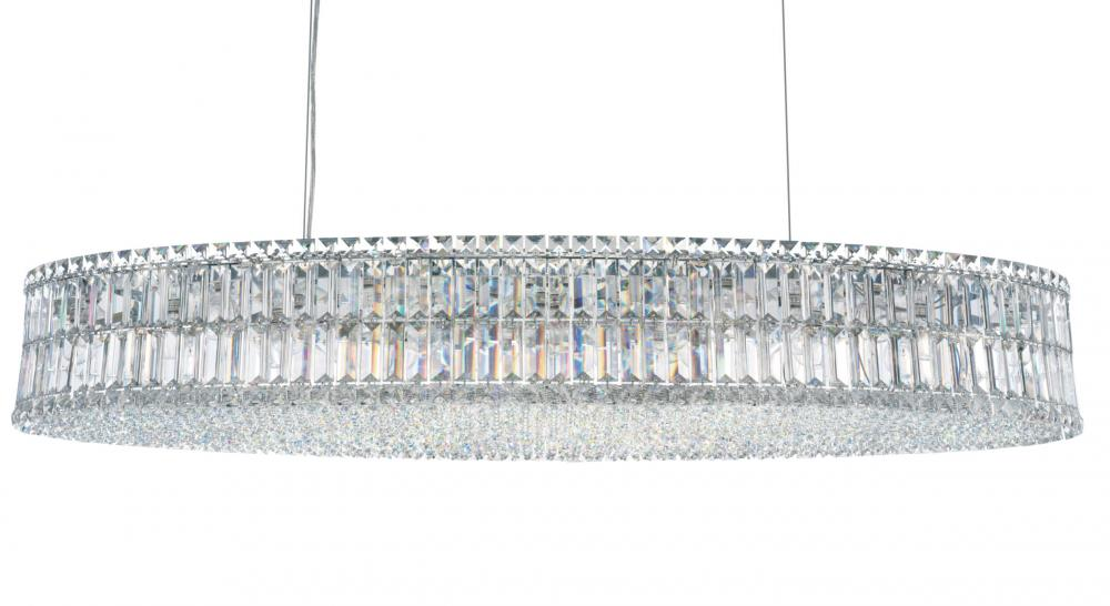 Plaza 24 Light 110V Pendant in Stainless Steel with Clear Spectra Crystal 6680