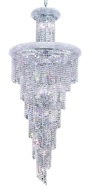 Spiral 28 light Chrome Chandelier v1800sr30c/ec