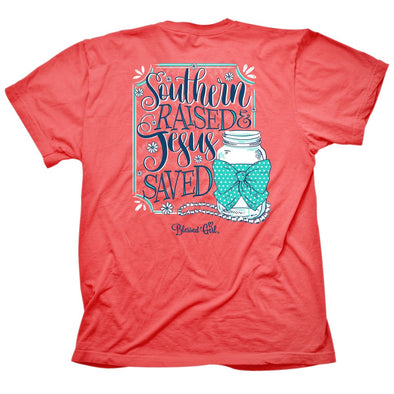 Blessed Girl Womens T-Shirt Southern Raised Small / Coral Silk T-Shirts