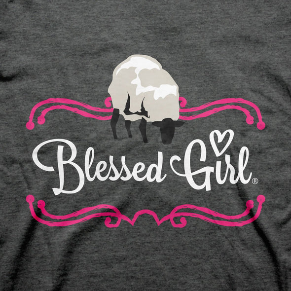 Blessed Girl Womens T-Shirt Sheep Dog T-Shirts