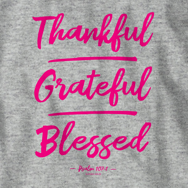 Blessed Girl Womens Long Sleeve T-Shirt Thankful Grateful Blessed
