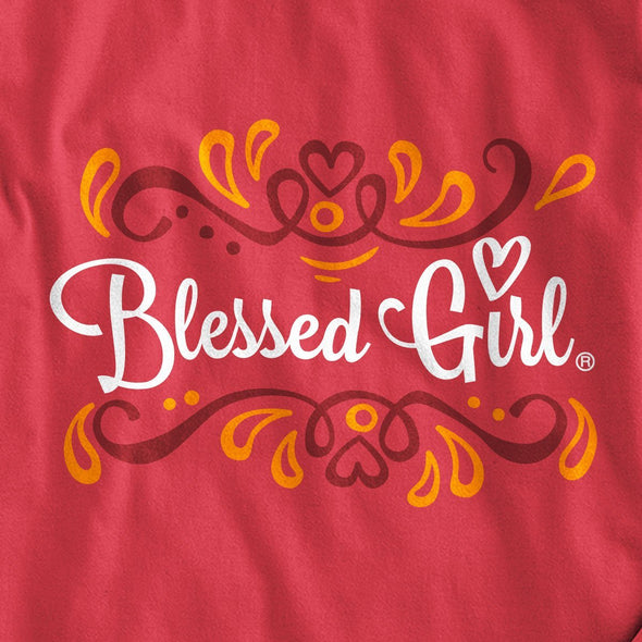 Blessed Girl Womens Long Sleeve T-Shirt But First Jesus T-Shirts
