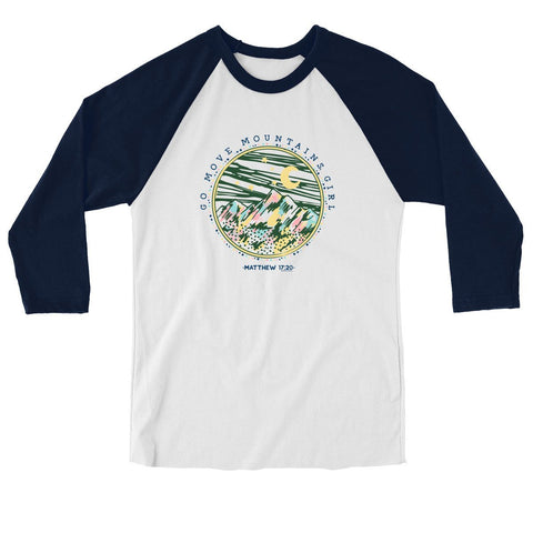 Blessed Girl Raglan - Go Move Mountains