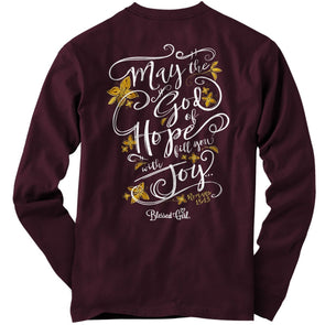 Blessed Girl Womens Long Sleeve T-Shirt God Of Hope T-Shirts