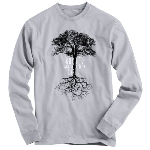 Light Source Mens Long Sleeve T-Shirt Rooted